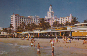 Roney Plaza Hotel Beach Scene