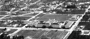 Aerial view, Miami Senior High School, 1936