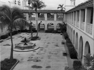 Courtyard, Miami Senior High School, 1963