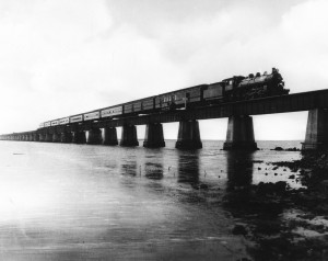 Train on Seven Mile Bridge