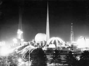 1939 Worlds Fair at Night